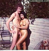 Young John Holmes wips out his giant cock
